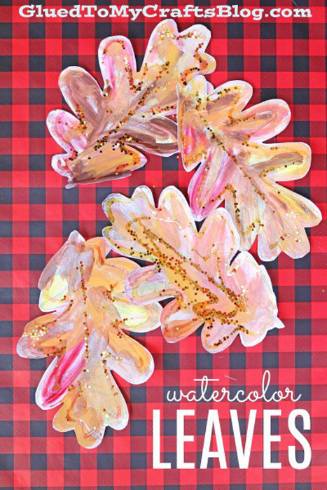 Glued To My Crafts Watercolor Leaves