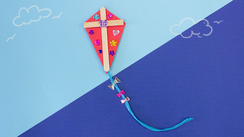 Back To School Popsicle Stick Kite Craft For Kids Craft Project Ideas