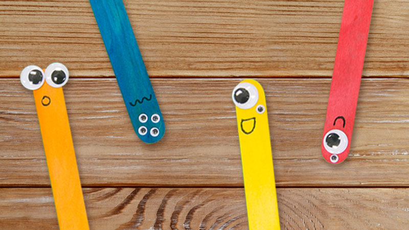 Back To School Popsicle Stick Easy Monster Craft For Kids