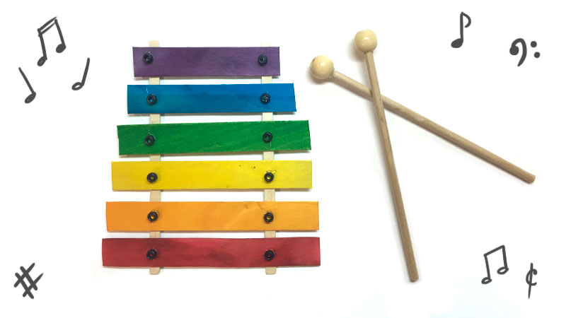 how to make a xylophone out of popsicle sticks
