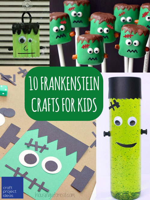 Frankenstein Crafts For Kids Craftprojectideas Com