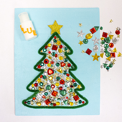 use various christmas colored jewels and gems to embellish the tree step 7 use various christmas colored jewels - Jewel Colored Christmas Decorations
