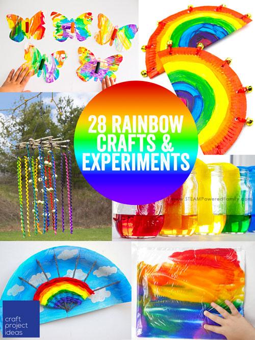 28 Rainbow Crafts & Experiments for Kids - CraftProjectIdeas.com