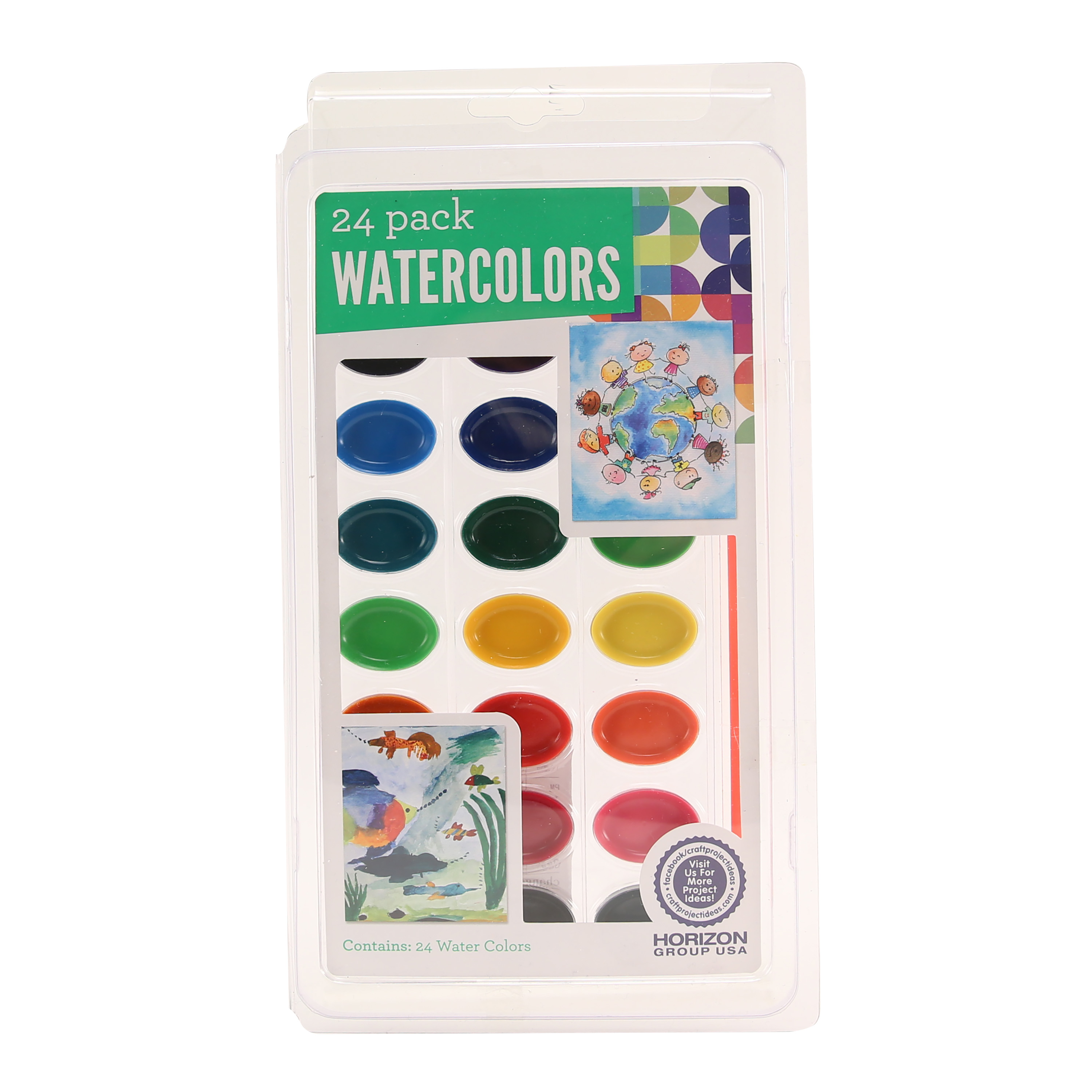 Master Of The Arts Water Color Palette 24 Colors Craft