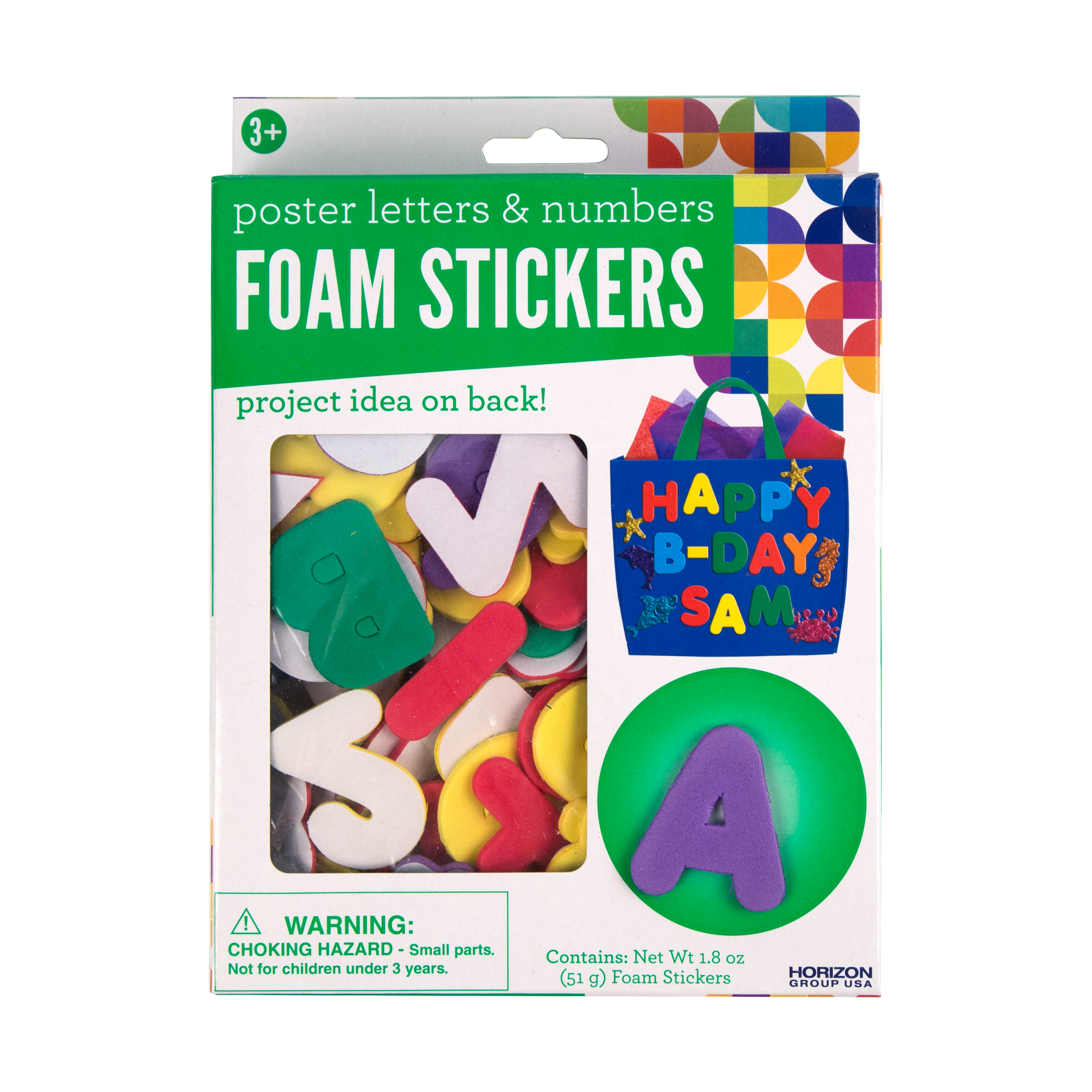 Assorted Poster Letters Numbers Foam Stickers Craft Project Ideas