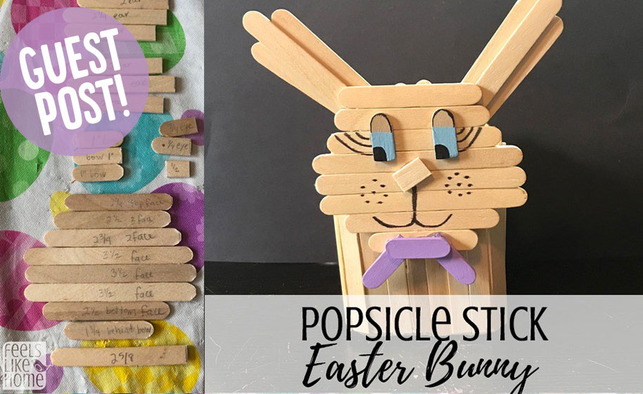 Guest Post Craft Stick Easter Bunny Craft Project Ideas
