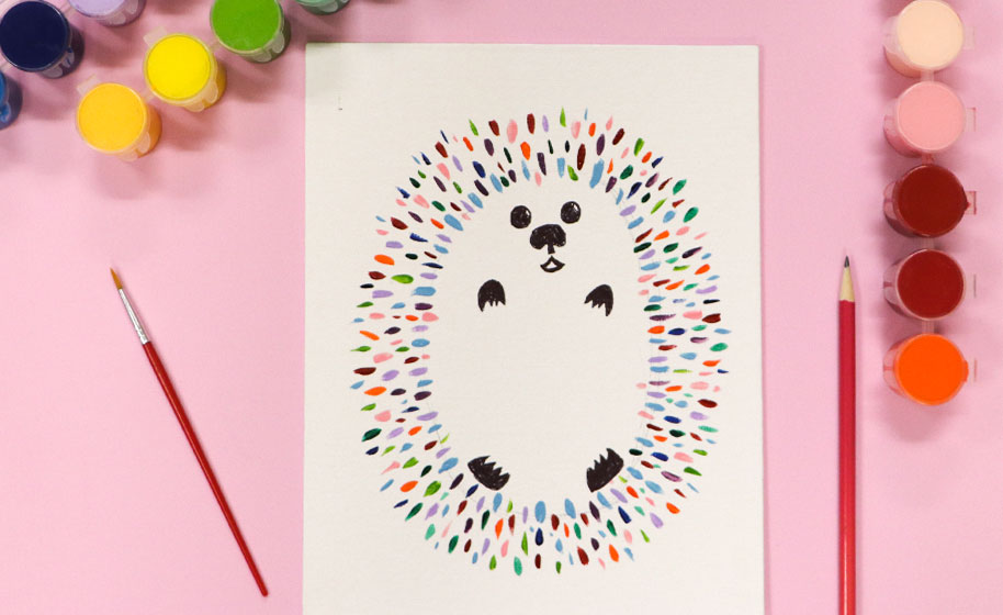 Hedgehog Painting Craft Project Ideas