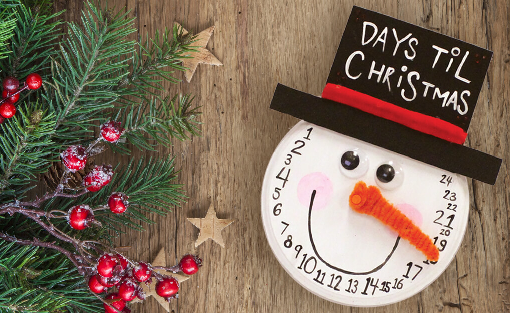 Days til Christmas Snowman Countdown