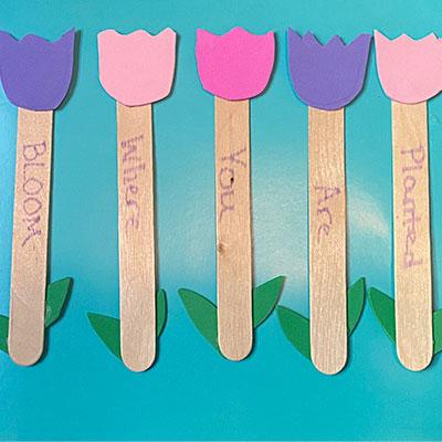 Foam Flower Craft Sticks