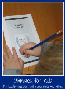 Olympic Passport Printable