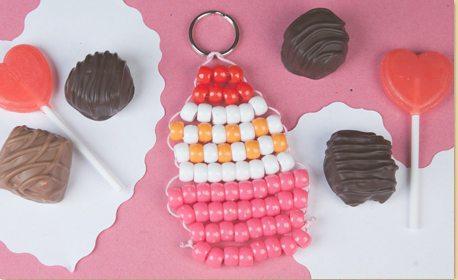 Beaded Cupcake Keychain Craft