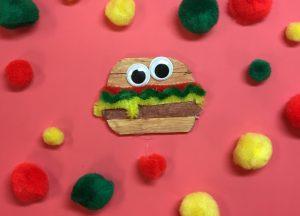 Craft Stick Hamburger