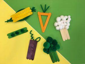 Craft Stick Vegetables